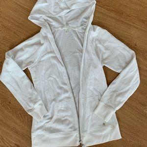 White Victoria's Secret Zip Up Hoodie w/Sequin♡